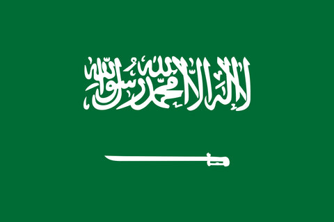 "Saudi Arabia 1.5"" x 2.5"" - Flag Face Sticker"