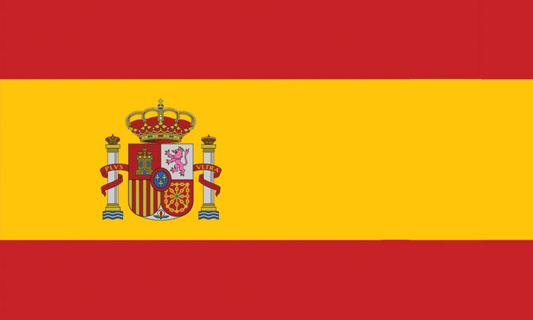 "Spain #1018 1.5"" x 2.5"" - Flag Face Sticker"