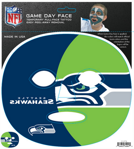 Seattle Seahawks 4047 - Full Face Tattoo