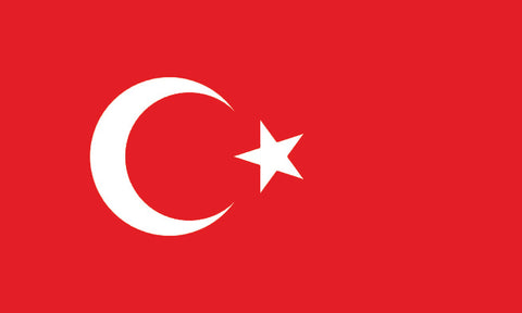 "Turkey 1.5"" x 2.5"" - Flag Face Sticker"