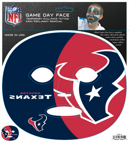 Houston Texans 4031 - Full Face Tattoo