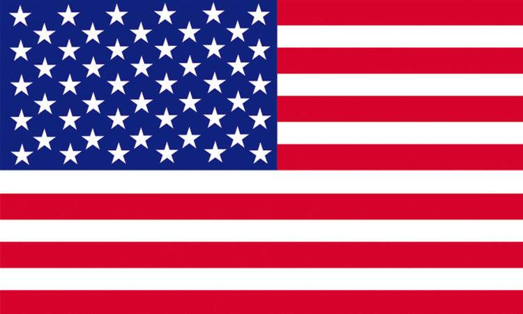 "USA #1000 1.5"" x 2.5"" - Flag Face Sticker"