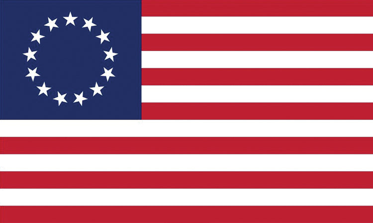 "USA 1776 #1001 1.5"" x 2.5"" - Flag Face Sticker"