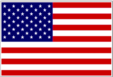 "USA Flag #2701 1""X 1.75"" - Temporary Tattoo"