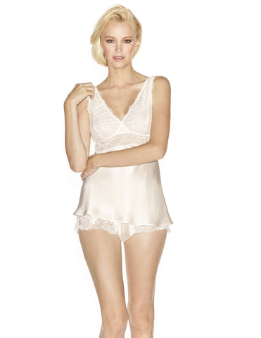 Ivory silk Camisoles - Morgan Iconic Bust-Support Silk Camisole in Ivory