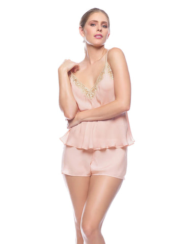 Pink silk Camisoles - Paloma Gimme The Night Camisole in Blush
