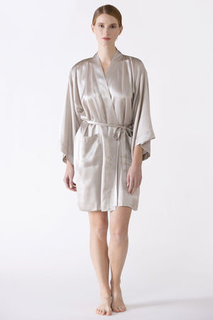 Zero Waste Robe Short Robe NK iMODE winter-fog grey S/M