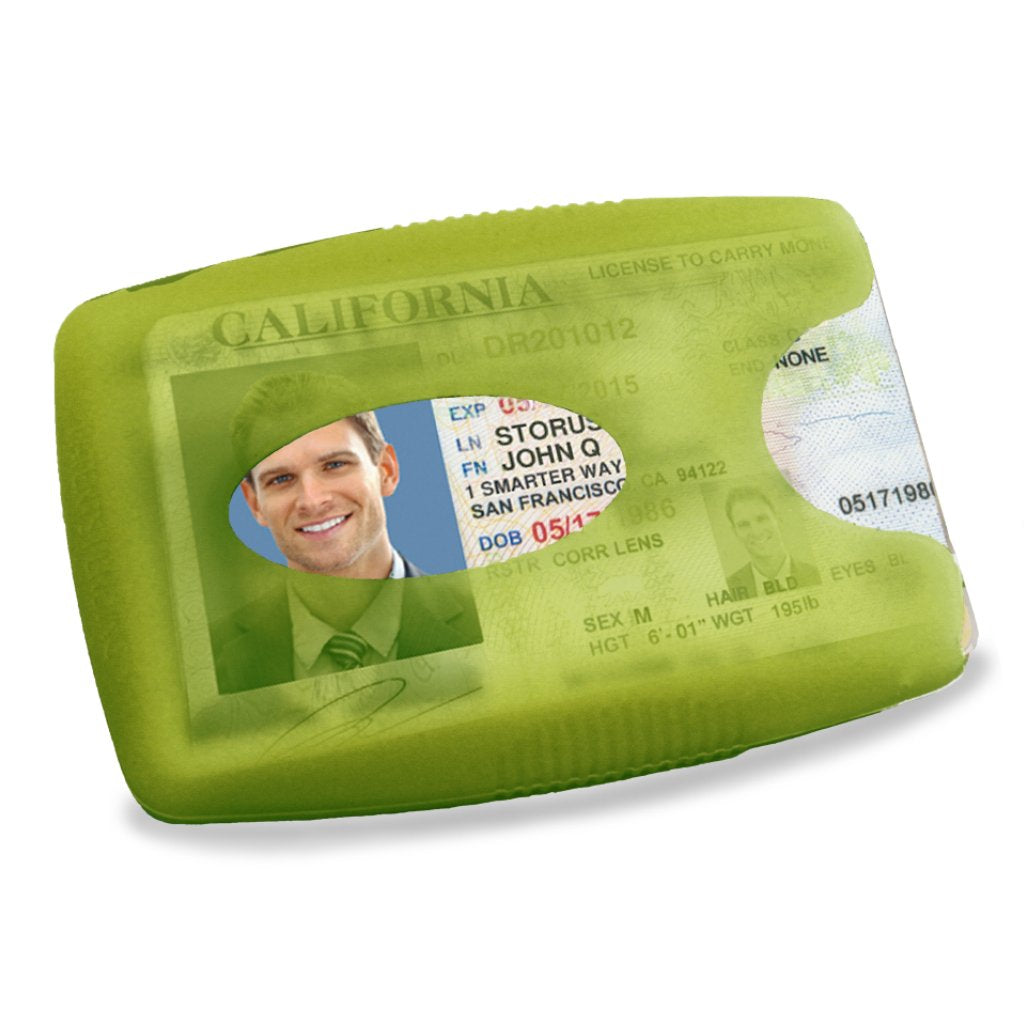 LiveGreeek™ Storus® Jelly Wallet - lime green color - #ScottKaminski #Storus #Man #MensAccessories #Wallets #MoneyClips #storagesolutions #organization