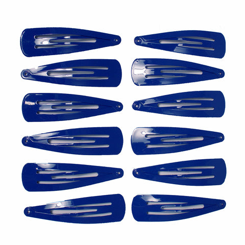 Snip Snaps® Glossy Metal Barrettes - Royal Blue