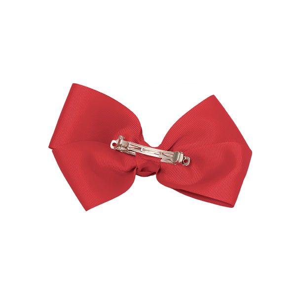 LiveGreek™ Mia® Spirit - Bow Barrette - red color - back side - #MiaKaminski #Mia #MiaBeauty #beauty #hair #lovethis #love #life #woman #HairAccessories #bow #barrette #cheer #dance
