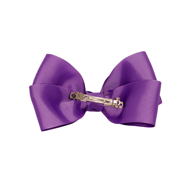 LiveGreek™ Mia® Spirit - Bow Barrette - purple color - back side - #MiaKaminski #Mia #MiaBeauty #beauty #hair #lovethis #love #life #woman #HairAccessories #bow #barrette #cheer #dance
