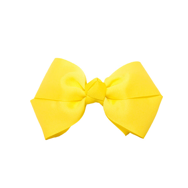 Mia Spirit Large Grosgrain Bow Barrette - Yellow
