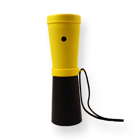 LiveGreek® Storus® SuperHorn breathe powered horn - yellow and black color - invented by #ScottKaminski #LiveGreek #MiaKaminski #Panhellenic #sororitysupplies #bigsislilsis #students #college #rush #graduationgifts #sororityhouse #fraternal #fraternity #superhorn #noisemaker #safetydevice