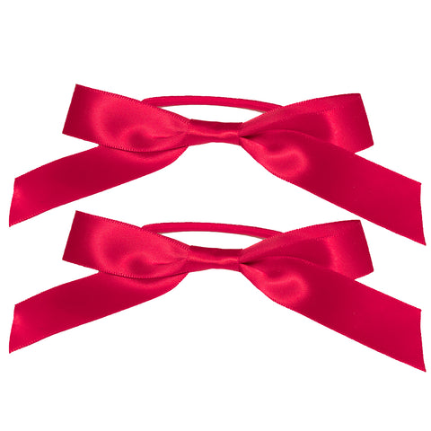 Mia® Spirit Satin Ribbon Bow Ponytailer Set - hair accessories - maroon color - designed by #MiaKaminski of Mia Beauty