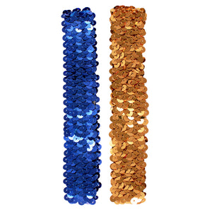 Mia® Spirit Sequin Headbands - gold and navy blue color - by #MiaKaminski of Mia Beauty
