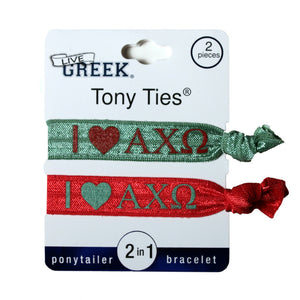 LiveGreek® Tony Ties® ponytail holders - shown printed - invented by #MiaKaminski #Mia #MiaBeauty #beauty #hair #lovethis #love #life #woman #HairAccessories #cheer #dance #schooluniform #ponytails #hairties #hairrubberbands #haircoils