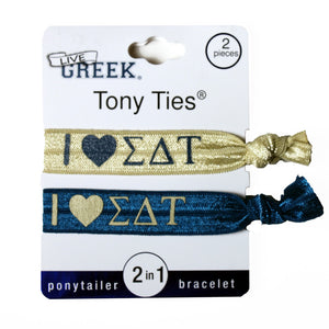 LiveGreek® Tony Ties® ponytail holders - shown printed - on packaging - invented by #MiaKaminski #Mia #MiaBeauty #beauty #hair #lovethis #love #life #woman #HairAccessories #cheer #dance #schooluniform #ponytails #hairties #hairrubberbands #haircoils