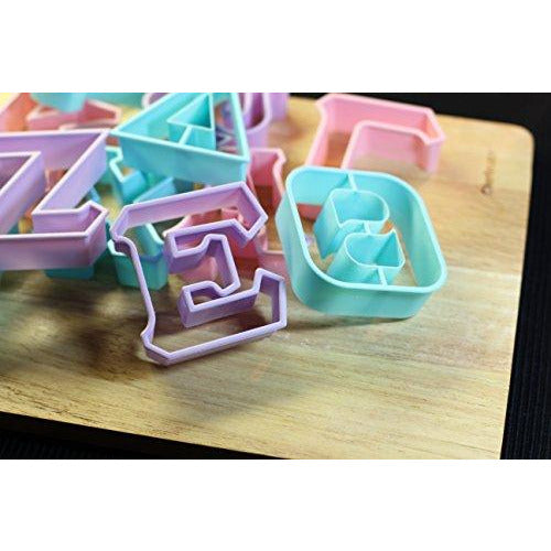 LiveGreek® Greek Alphabet Cookie Cutters - group shot on cutting board