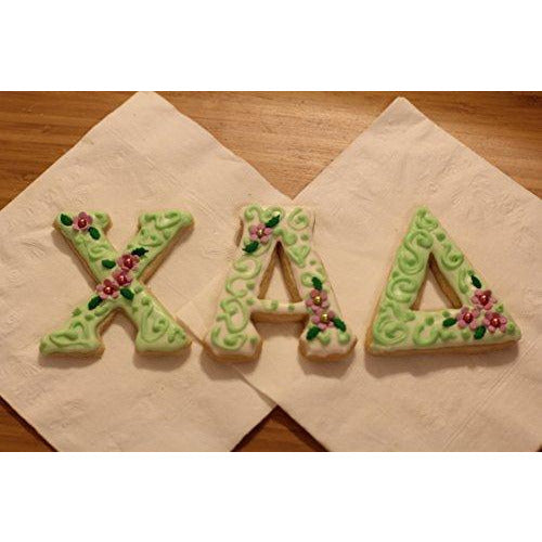 LiveGreek® Greek Alphabet Cookie Cutters - decorated cookie examples - #LiveGreek #ScottKaminski #MiaKaminski #Panhellenic #sororitysupplies #bigsislilsis #students #college #rush #graduationgifts #sororityhouse #fraternal #fraternity #cookiecutters #artstencil #GreekAlphabet