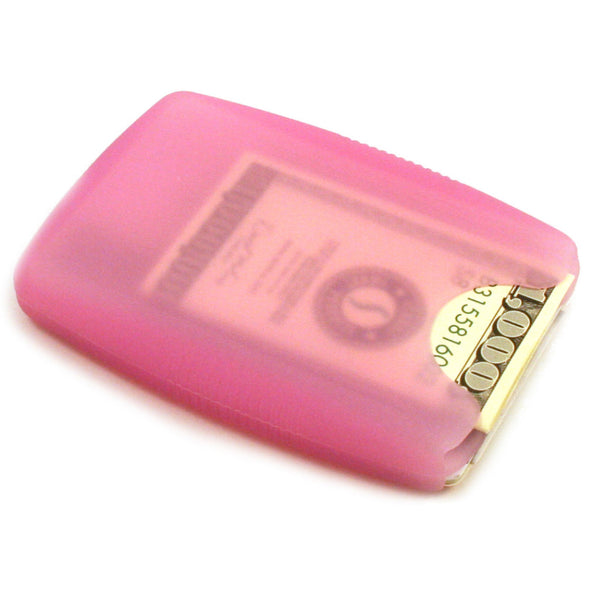 LiveGreeek™ Storus® Jelly Wallet - pink color - back side shown - #ScottKaminski #Storus #Man #MensAccessories #Wallets #MoneyClips #storagesolutions #organization