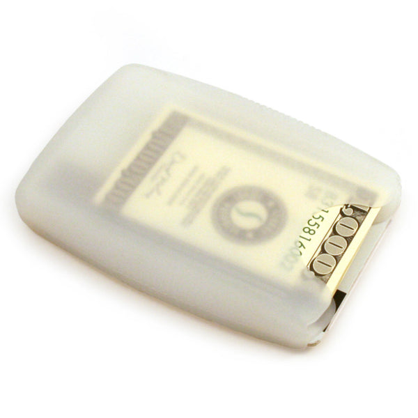 LiveGreeek™ Storus® Jelly Wallet - clear color - back side shown - #ScottKaminski #Storus #Man #MensAccessories #Wallets #MoneyClips #storagesolutions #organization