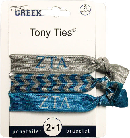 Tony Ties® - Zeta Tau Alpha - Pack Of Three (3)