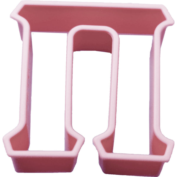 LiveGreek alphabet cookie cutter - Pi shape - #LiveGreek #ScottKaminski #MiaKaminski #Panhellenic #sororitysupplies #bigsislilsis #students #college #rush #graduationgifts #sororityhouse #fraternal #fraternity #cookiecutters #artstencil #GreekAlphabet