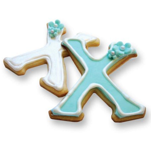 LiveGreek® Greek Alphabet Cookie Cutters - decorated Chi cookies