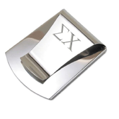 LiveGreek® Storus® Smart Money Clip® - Polished Stainless Steel finish - clip side shown engraved - invented #ScottKaminski #Storus #Man #MensAccessories #Wallets #MoneyClips #storagesolutions #organization #lovethis #life #swag #slimclip