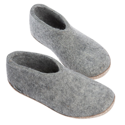 Indoor Shoe with Heelcap - Grey