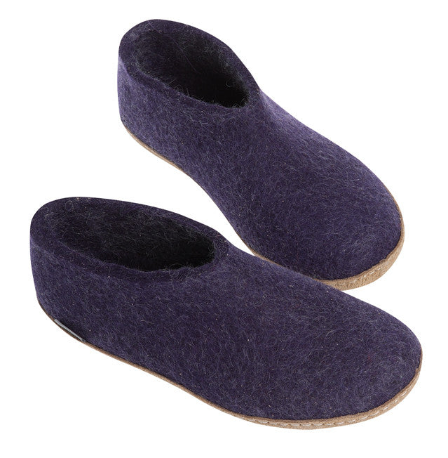 Indoor Shoe with Heelcap - Purple