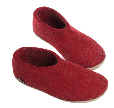 Indoor Shoe with Heelcap - Red