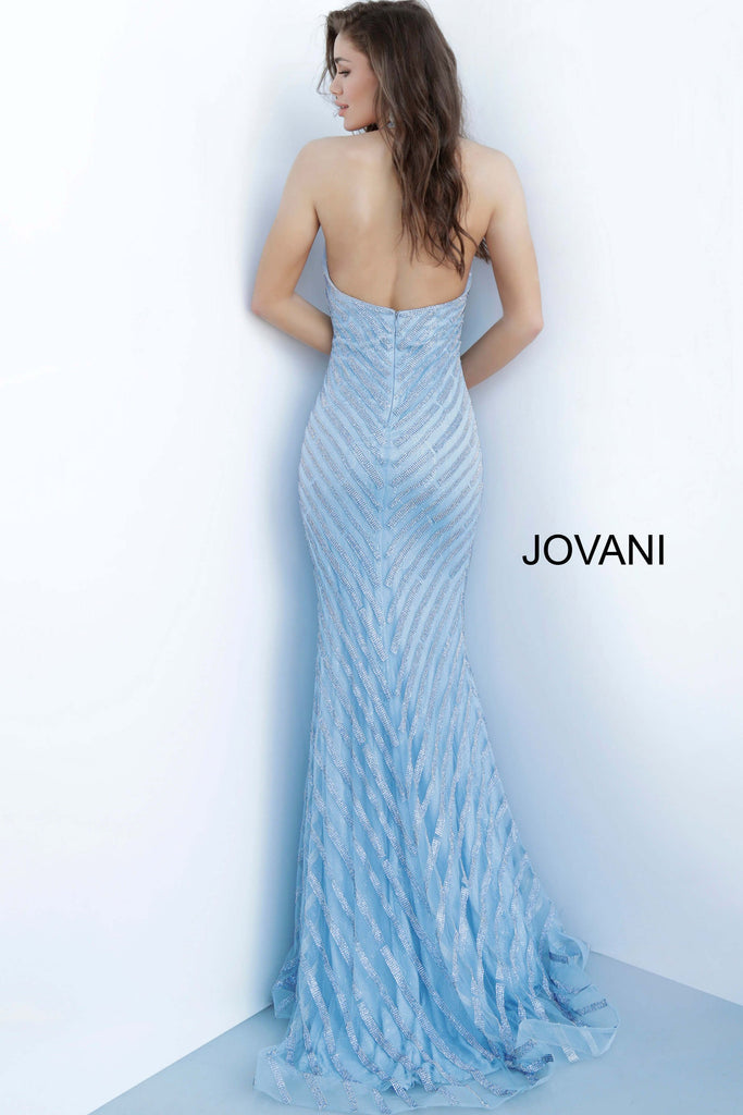 Jovani 00399 light blue prom dress