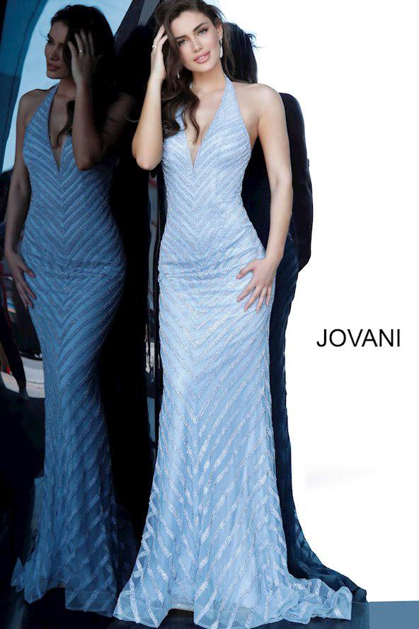 Jovani 00399 blue prom dress