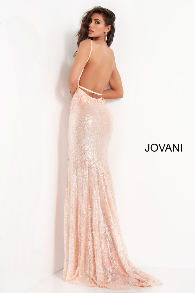 Jovani 1012 rose gold prom dress