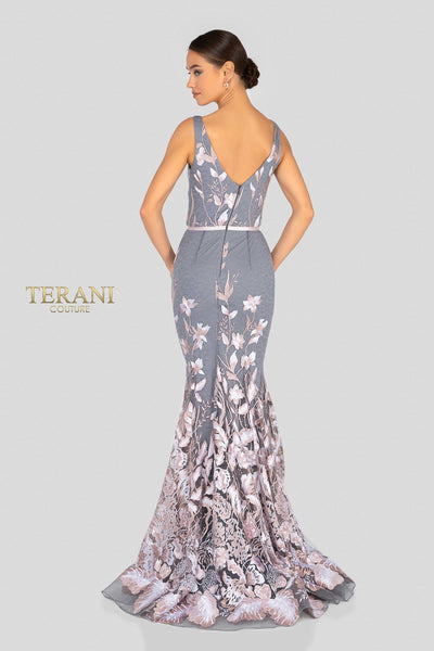 a38ddd84714c Terani 1912e9160 blush and silver floral embroidery evening dress ...