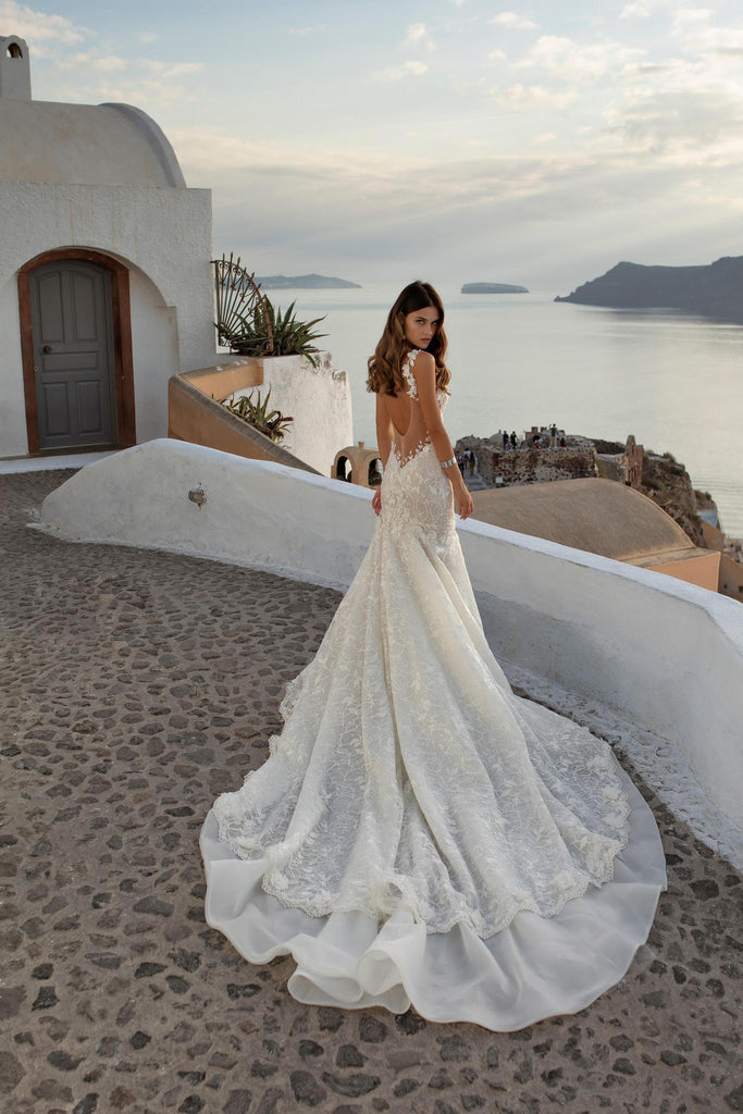 Ricca Sosa 21001 floral trumpet bridal gown