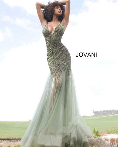 Jovani 4741 beaded long formal dress