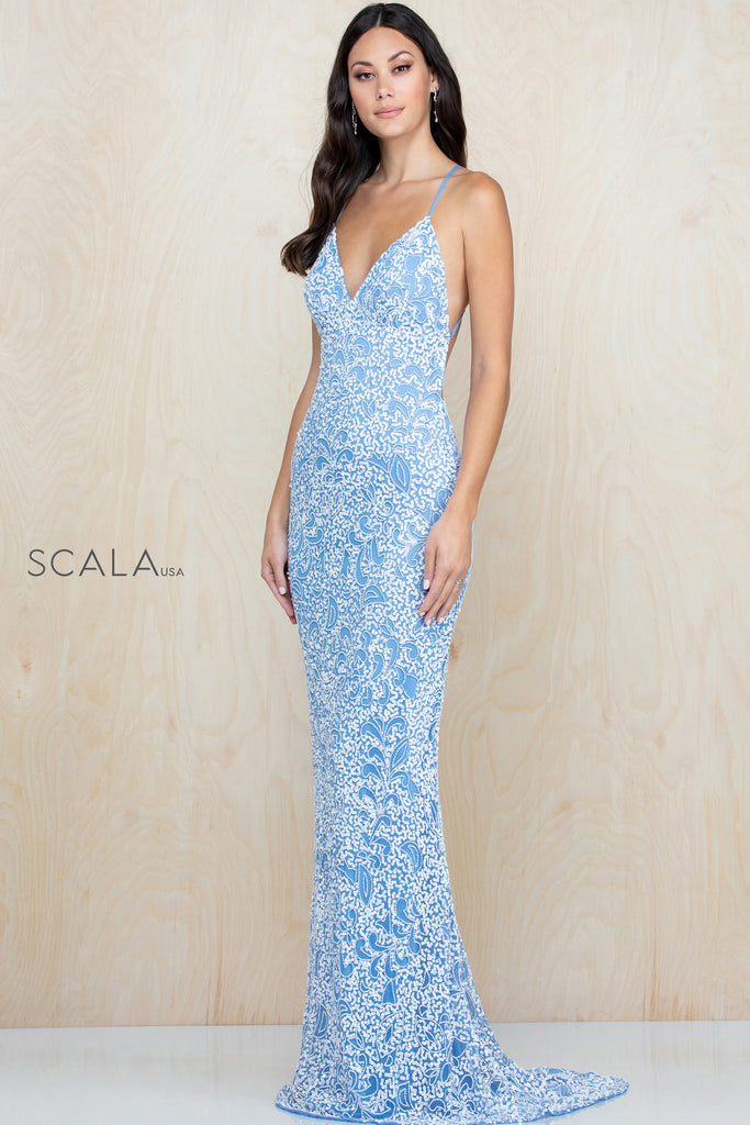 Scala 47542 long sequin dress