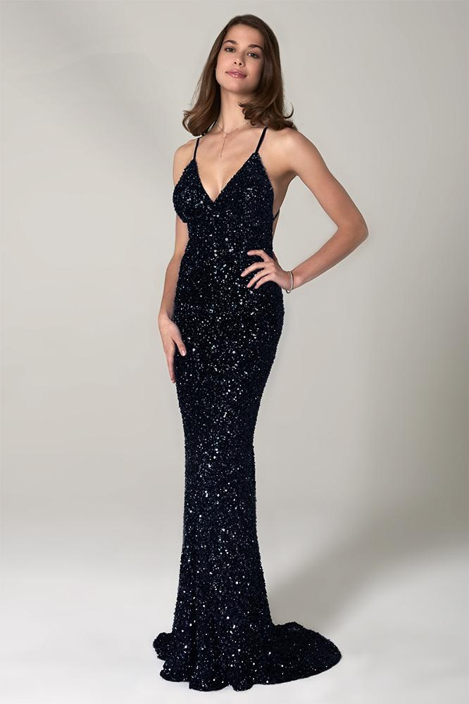 scala 47551 low back sequins prom dress
