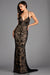 Scala 48557 black low back sequin dress