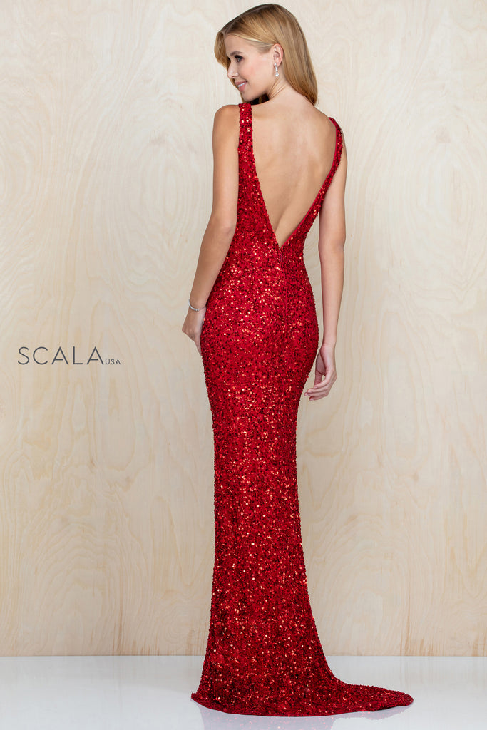 Scala 48883 long sequin dress