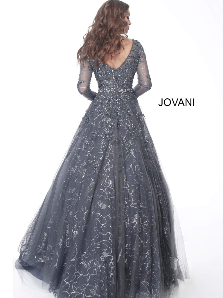 Jovani 51838 long sleeve floral dress