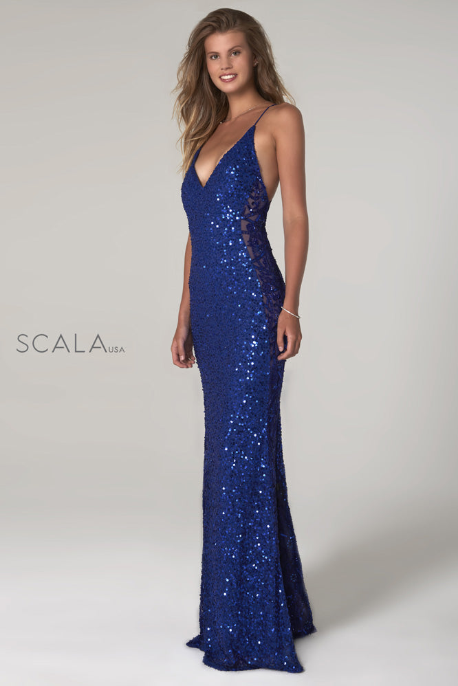 Scala 60096 sequins prom dress