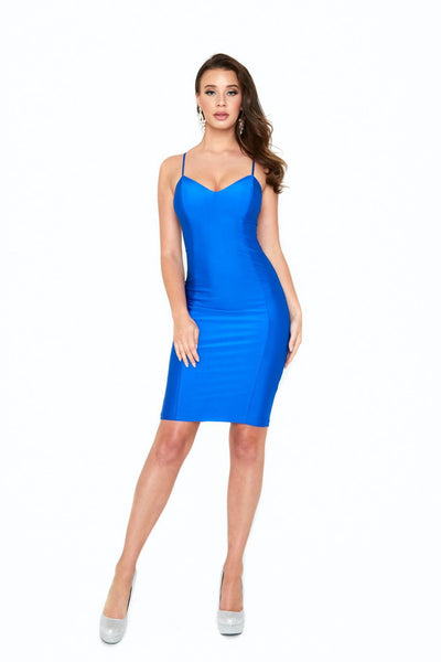 atria 6009s royal blue short prom dress
