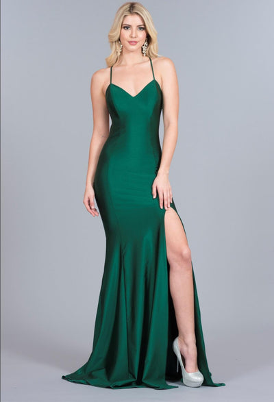 atria 6009 lace up back prom dress