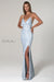 Scala 60116 ice blue prom dress