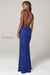 Scala 60116 blue sequins prom dress