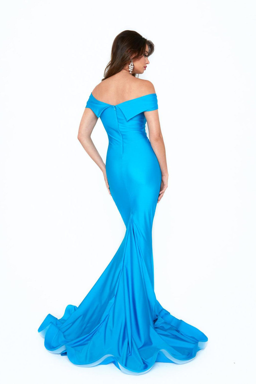 Atria 6204H off the shoulder jersey gown