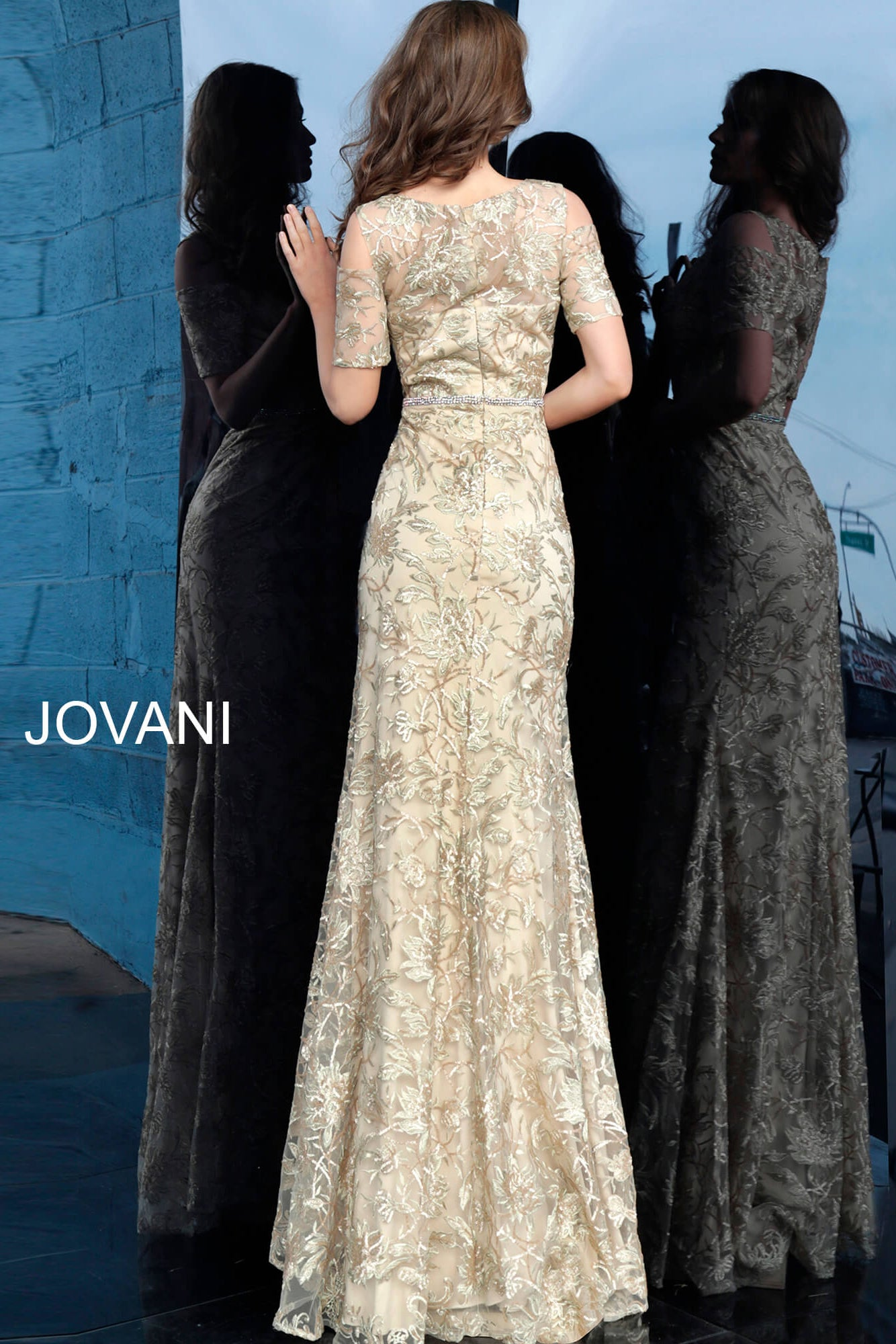 Jovani 63649 gold mother of the bride